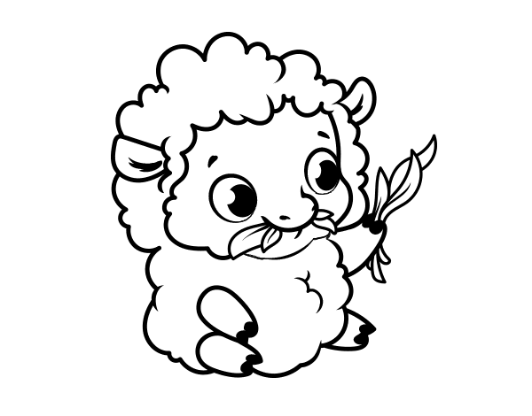baby sheep coloring pages - photo#7