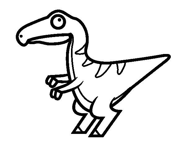 Baby velociraptor coloring page Coloringcrewcom