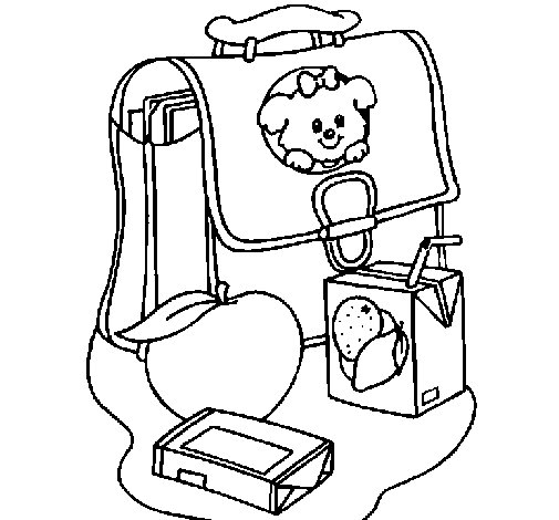 Backpack and breakfast coloring page - Coloringcrew.com