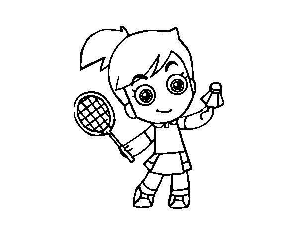 Badminton coloring page