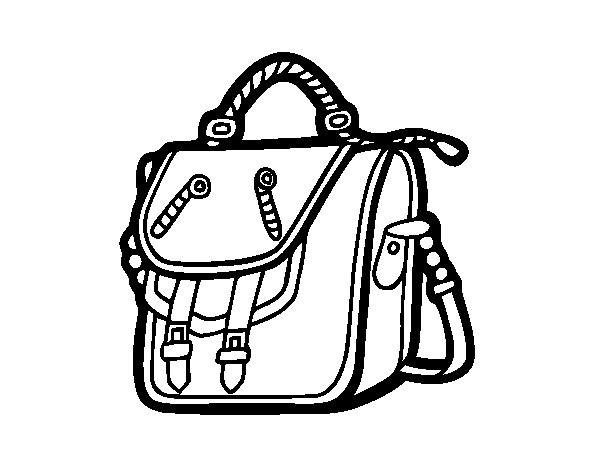 Bag backpack coloring page