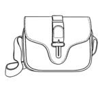 Bag flap coloring page