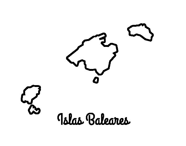 Balearic Islands coloring page