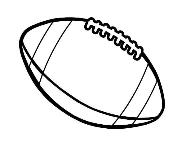 Ball of american football coloring page for Football color page