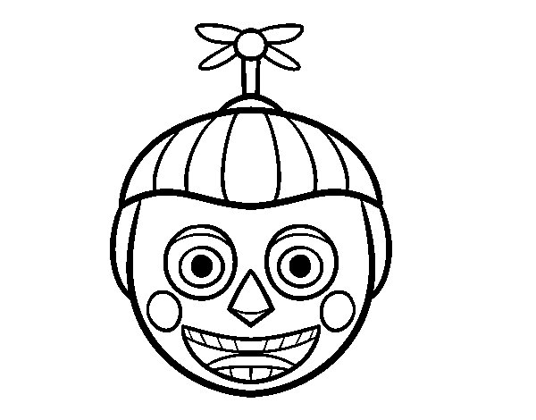balloon boy from five nights at freddys coloring page - Five Nights At Freddys Coloring Book
