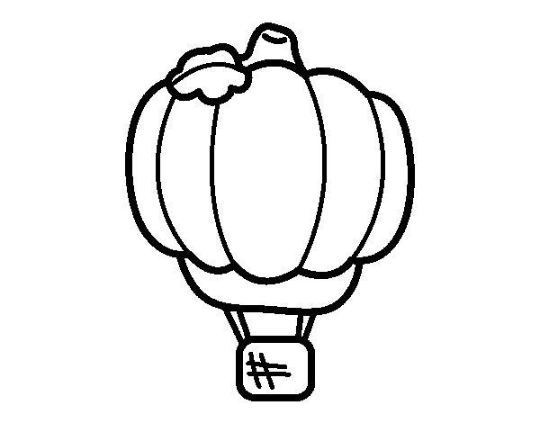 Balloon-Pumpkin coloring page