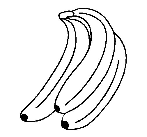 Bananas coloring page