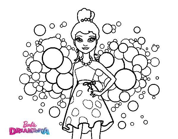 Barbie Pink Princess coloring page