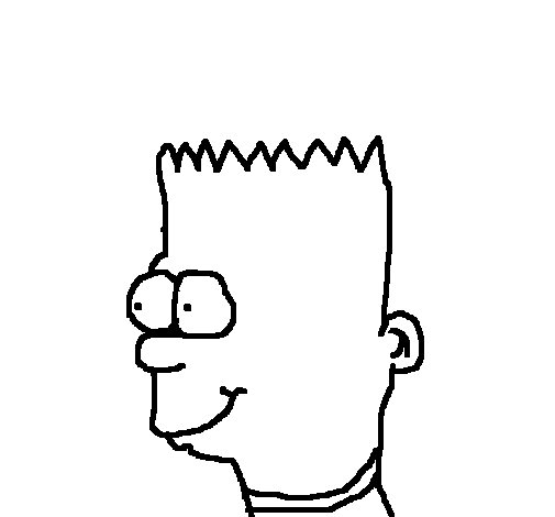 Bart coloring page