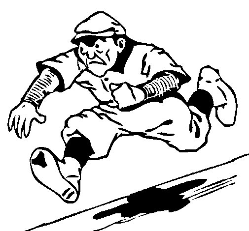 Baseball diamond coloring page