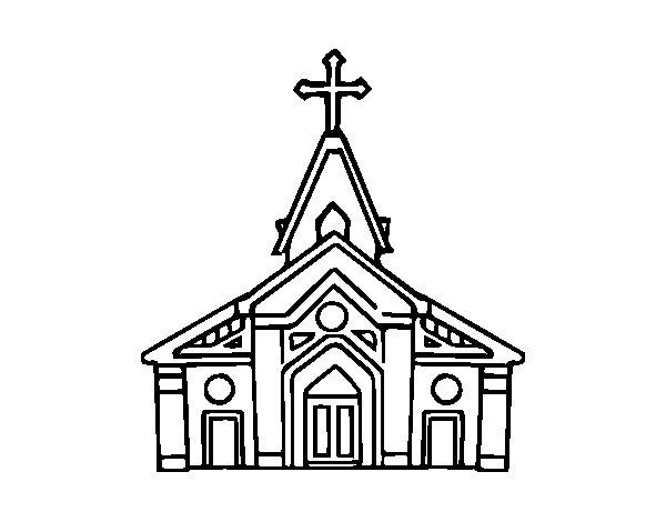 Basilica coloring page