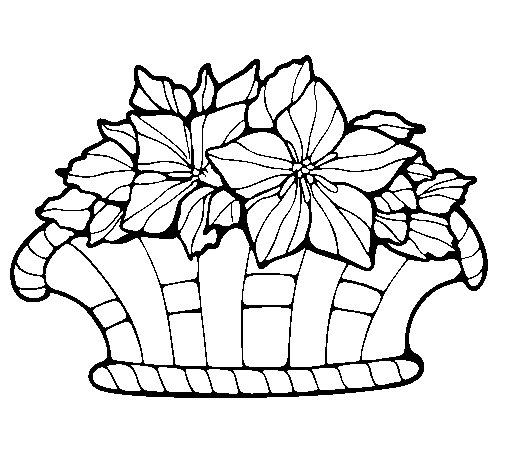 Basket of flowers 8 coloring page