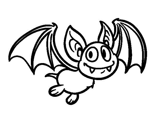 Bat - vampire coloring page