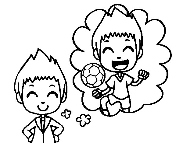 Be a footballer coloring page
