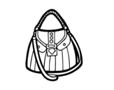 Beautiful bag coloring page