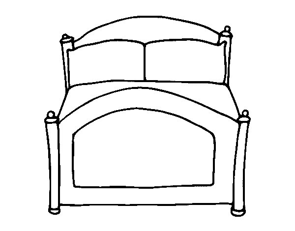 Bed coloring page Coloringcrewcom