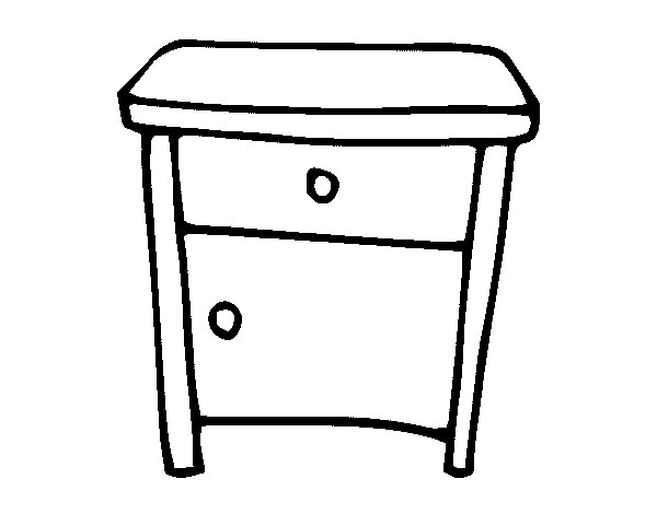 Bedside table coloring page - Coloringcrew.com