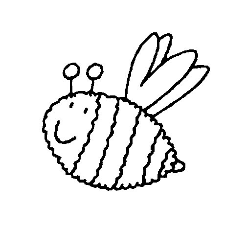 Bee 4 coloring page