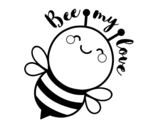 Bee my love coloring page