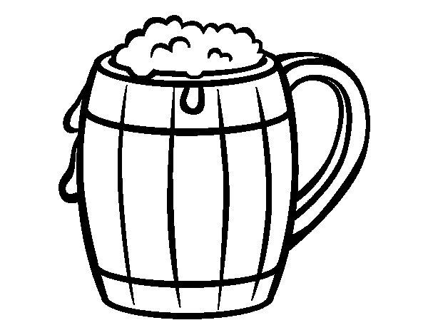 Beer Coloring Page Coloringcrewcom