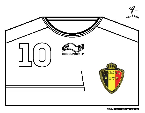 belgium world cup 2014 t shirt coloring page