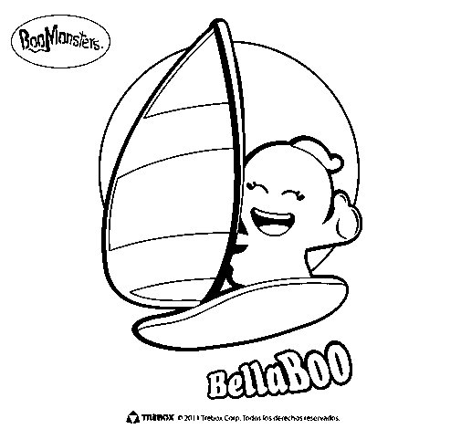BellaBoo coloring page