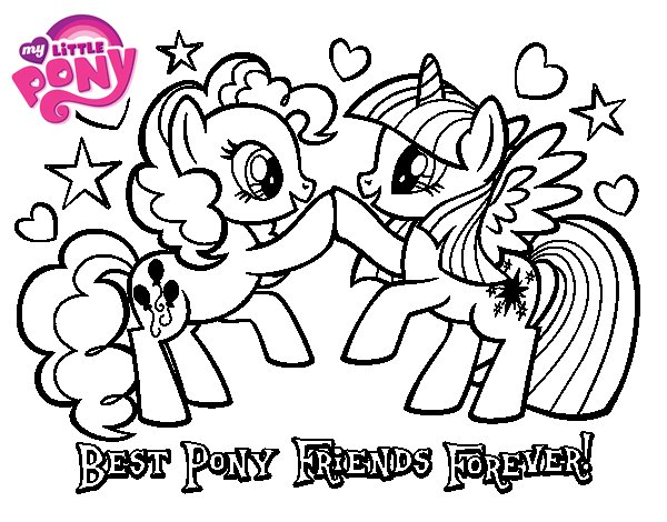 Best Pony Friends Forever coloring page