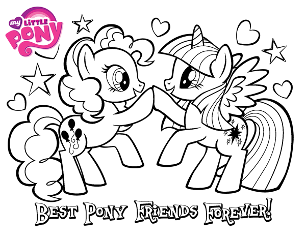 Best Pony Friends Forever coloring page  Coloringcrewcom