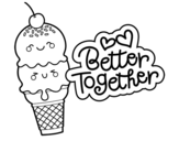 Better together coloring page