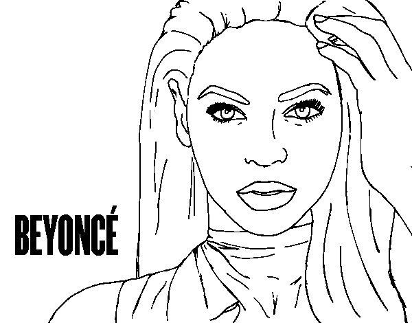 Beyoncé I am Sasha Fierce coloring page