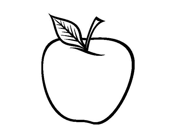 Big apple coloring page