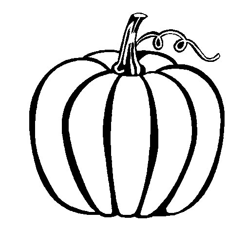 Big pumpkin coloring page