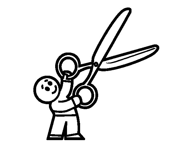 coloring pages scissors - photo#22