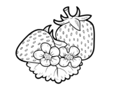 Big strawberries coloring page