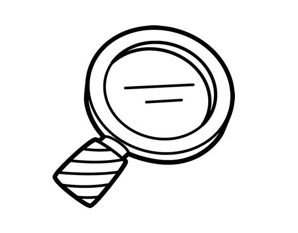 Free Coloring Pages Of Magnifying Glass
