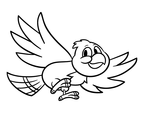 Bird Flying Coloring Page