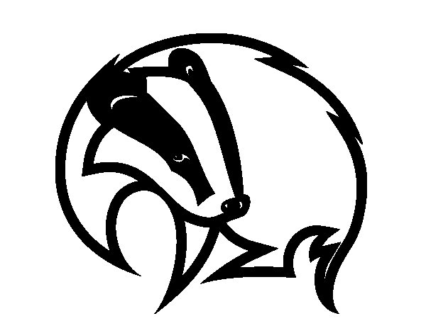 Black badger coloring page