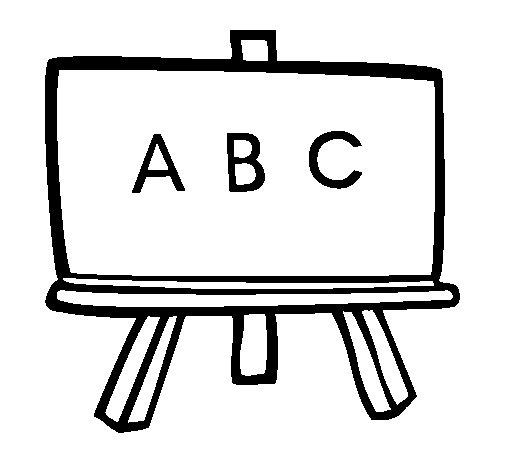 Blackboard coloring page