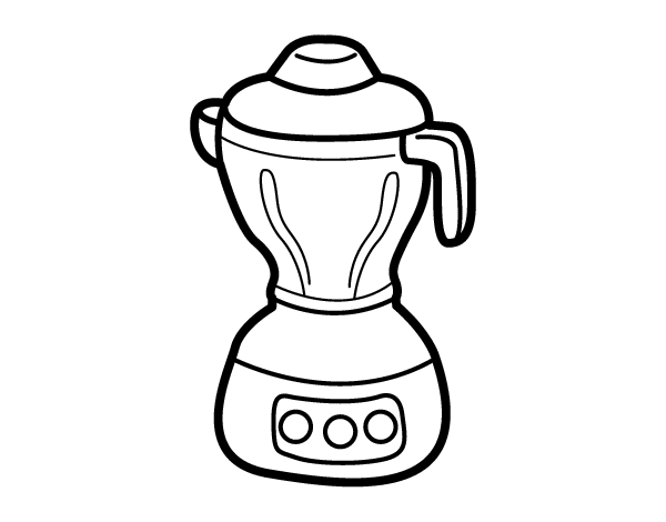 Coloring Pages Of Kitchen Items.  Blender coloring page Coloringcrew com