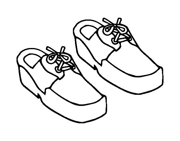 Boat shoes coloring page - Coloringcrew.com