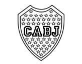 Boca Juniors crest coloring page