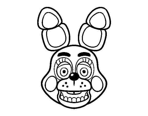 Bonnie Toy Face from Five Nights at Freddy's coloring page