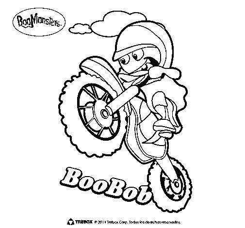 BooBob coloring page