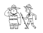Boy Scouts coloring page