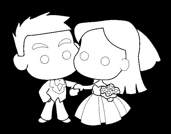 Kleurplaat Just Married Boyfriends Coloring Page Coloringcrew Com