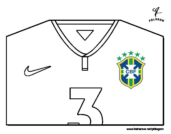 brazil world cup 2014 t shirt coloring page - T Shirt Coloring Page