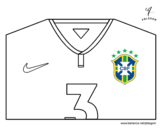 Brazil World Cup 2014 t-shirt coloring page