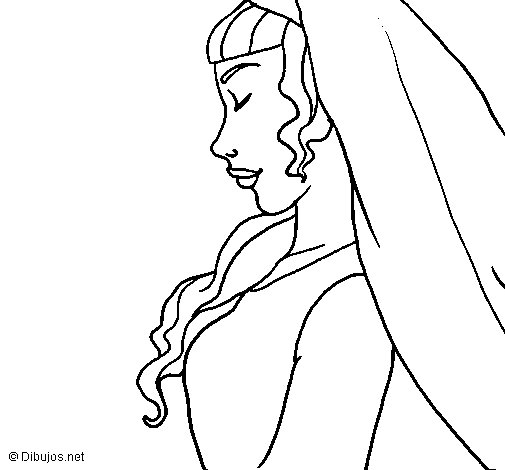 Bride II coloring page