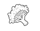 Broccoli branch coloring page