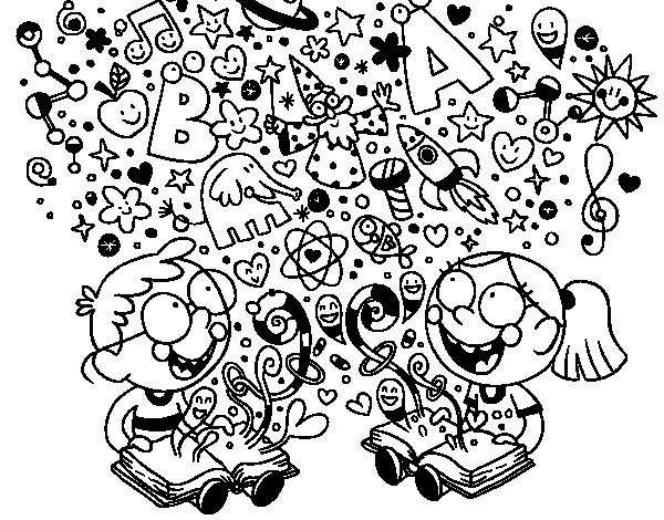 Brother readers coloring page